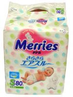 Подгузники Merries S 4-8 кг 82 шт