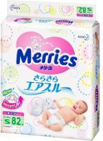 Подгузники Merries 4-8 кг, 82 шт