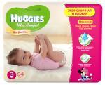 Подгузники HUGGIES Ultra Comfort Giga Pack для девочек 5-9 кг 94 шт Размер 3