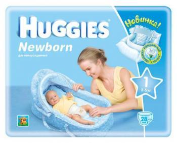 подгузники Huggies для новорожденных